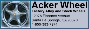 Acker Wheel, Factory Alloy and Stock Wheels 771 Coleman Avenue, San Jose, California 95110, 1 800 994-3357
